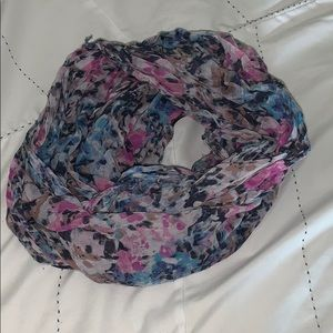 Light weight, floral infinity scarf